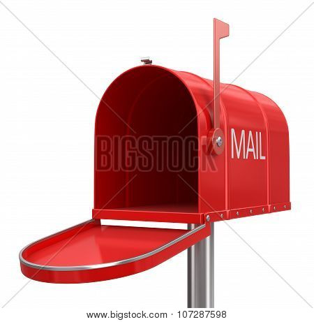 Open mailbox (clipping path included)