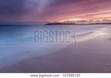 Calm on Trafalgar beach, Cadiz, Spain