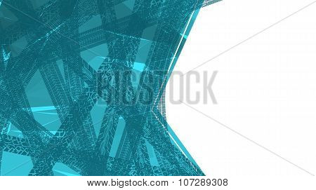 The abstract background with tyres tracks