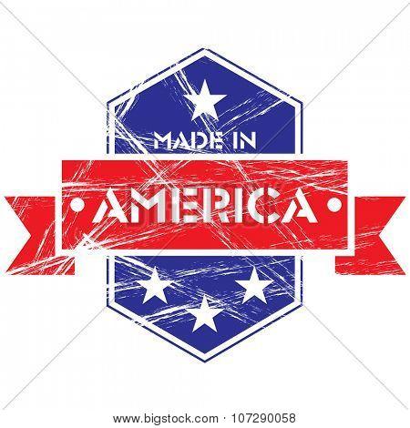 Made in America grunge badge