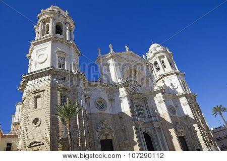 Facade Of Cathedral. Cadiz
