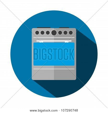 Vector Illustration Of A Flat Cooker