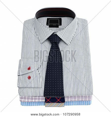 Men's stacked striped shirt