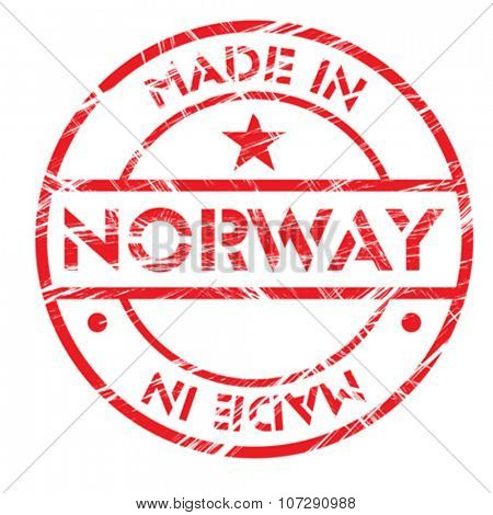 Made in Norway grunge rubber stamp