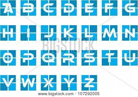 Blue Initial Alphabet Logo