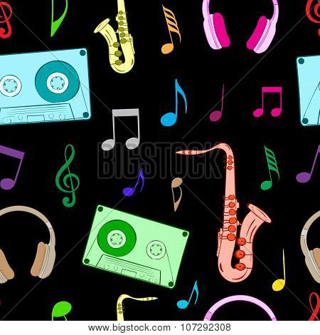 Musical subjects on the black