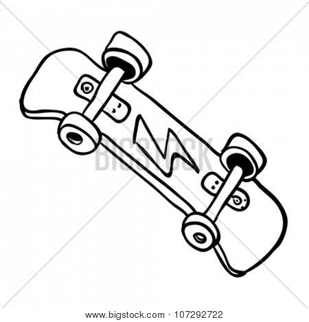 simple black and white skateboard