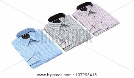 Set of striped and checkered shirts
