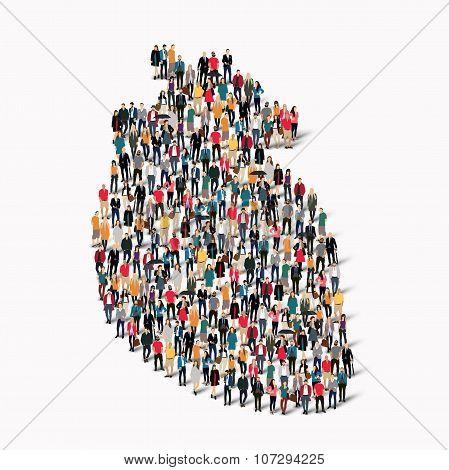 crowd people shape  heart medicine
