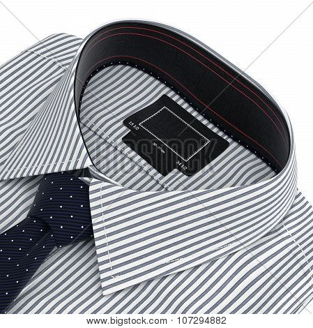 Classic collar shirt with tie