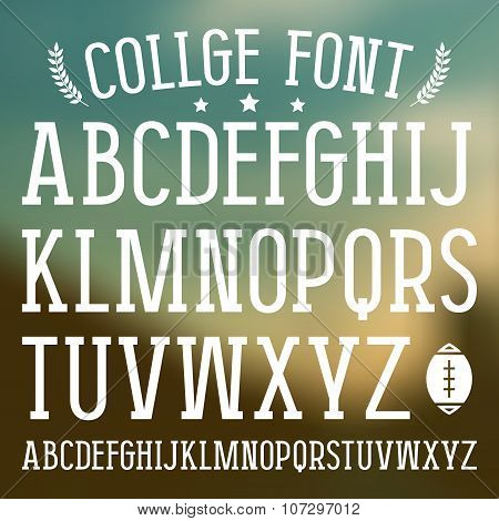 Serif Font In College Style
