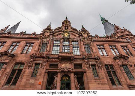 Heidelberg, Germany - October 17, 2015 - The Old Library Of Heidelberg University