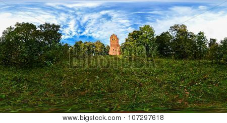 Spherical Panorama Of Lutheran Church Of Saint Katerina In The Settlement Of Vladimirovo (tharau)