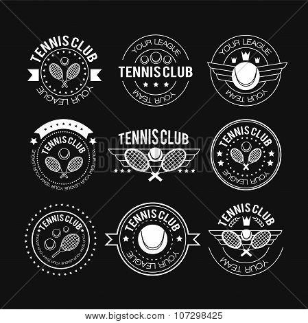 Tennis Sporting Vintage Emblems