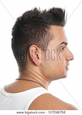 man with spiky hair