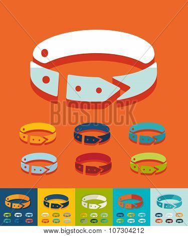 Flat design. dog-collar