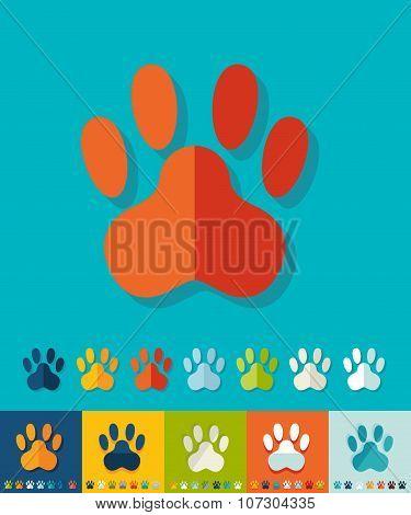Flat design. footprint