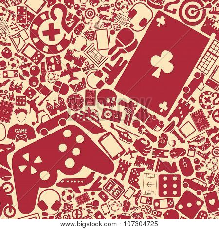 vector background of the gaming icons