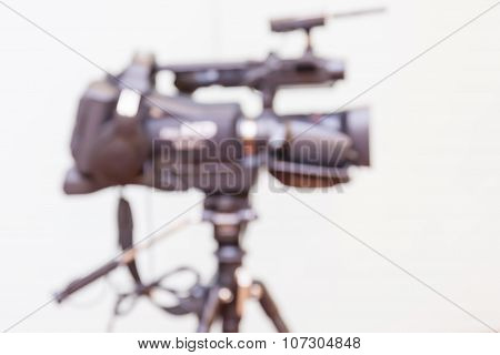 Abstract Blurred Background Of Video Camera.