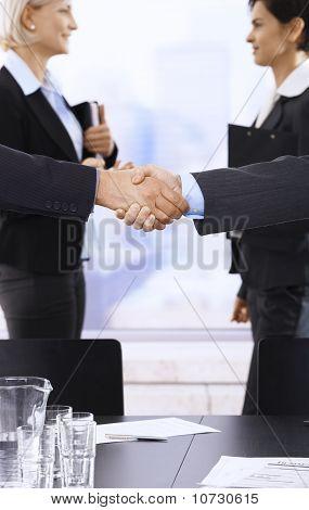 Handshake In Focus