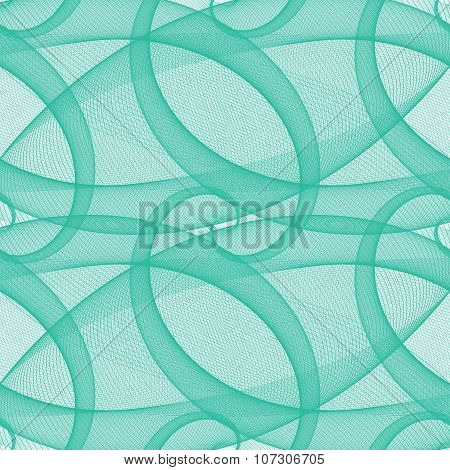 Teal seamless wired swirl fractal pattern background