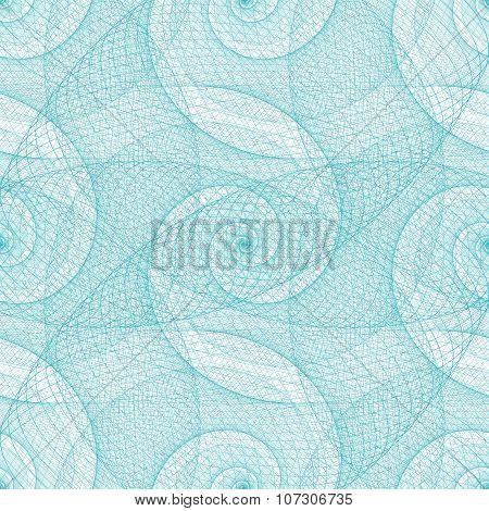 Cyan seamless swirl fractal pattern background