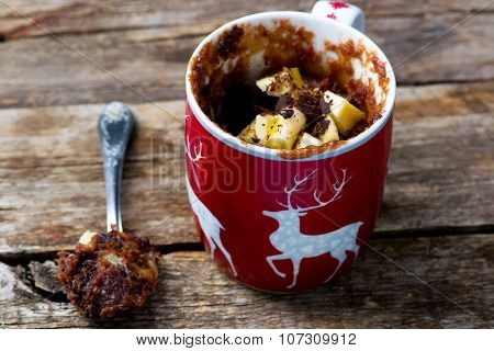 Mug Cake Prepared In Microwave