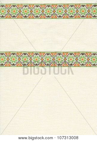 background with embroidery, cross-stitch