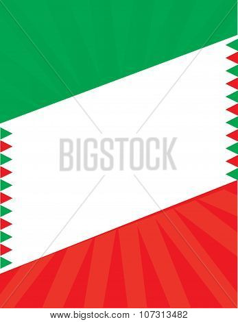 Mexican Flag Aztec Hispanic Border Background