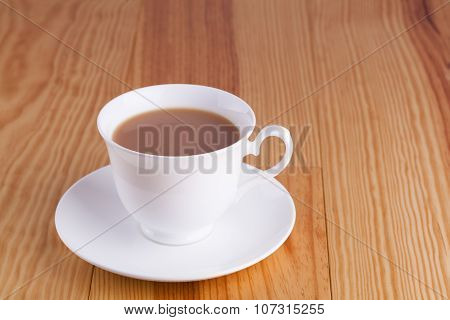 Cup Of Traditional English Tea In White China Cup