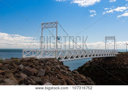 The White Bridge On The St.lawrence River, Canada