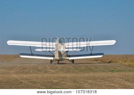 Old Propeller Biplane