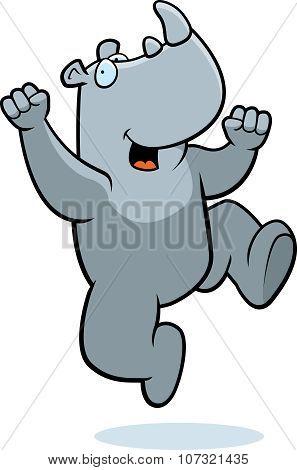 Rhino Jumping