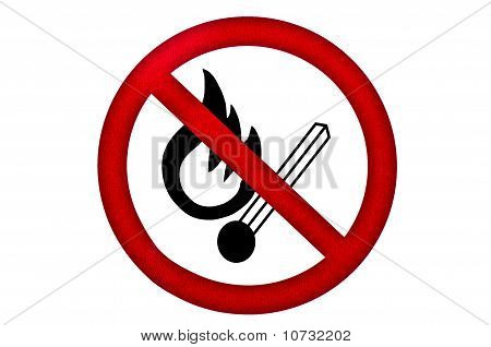 Flammable Sign On Isolated Background