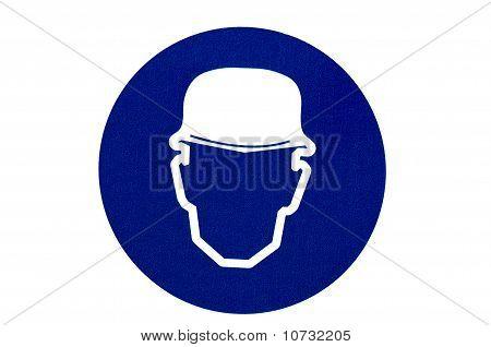 Use um sinal de chapéu em fundo isolado