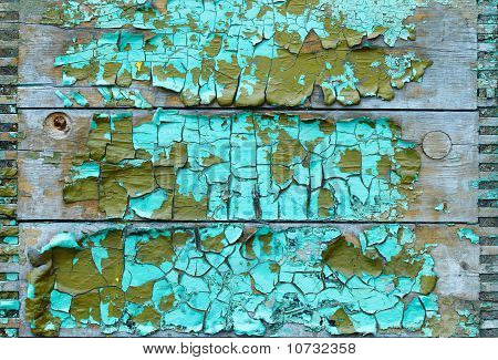 Board With Peeling Paint