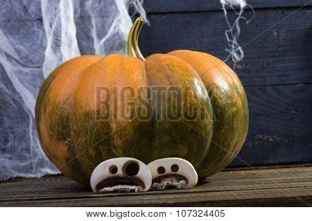 Pumpkin With Slices Of Champignon