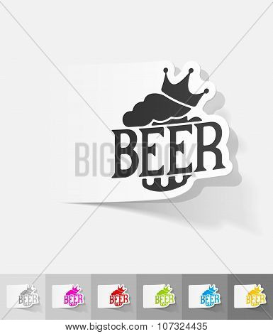 realistic design element. king beer