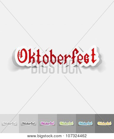 realistic design element. Oktoberfest