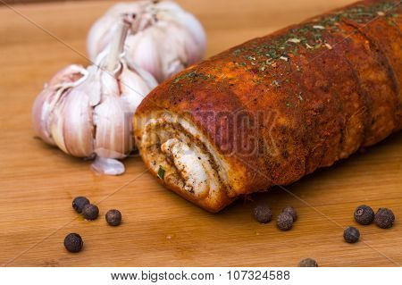 Spicy Fat Roll With Garlic