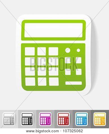 realistic design element. calculator