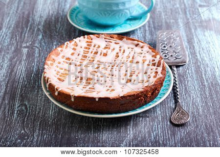 Cake With Icing Glaze