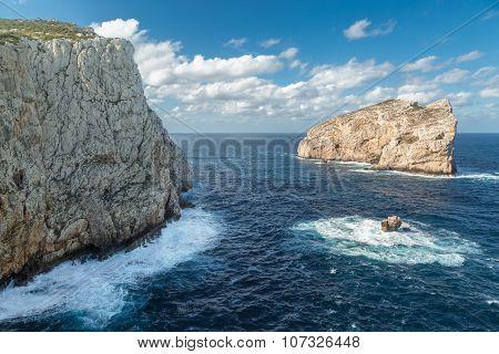 Isola Foradada Near Alghero In Sardinia