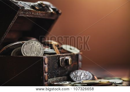 Old Coins In Chest