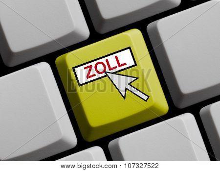 Yellow Keyboard - Toll Online German