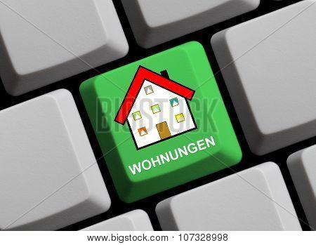 Green Keyboard - Apartment Online German