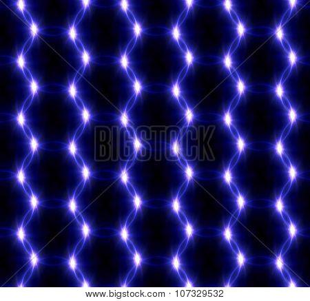 Lens Flare Overlap Blue Ring Pattern