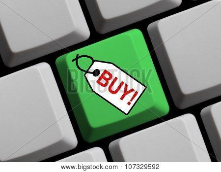 Green Keyboard - Label Online Buy