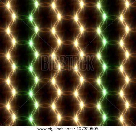 Lens Flare Overlap Green Yellow Ring Pattern