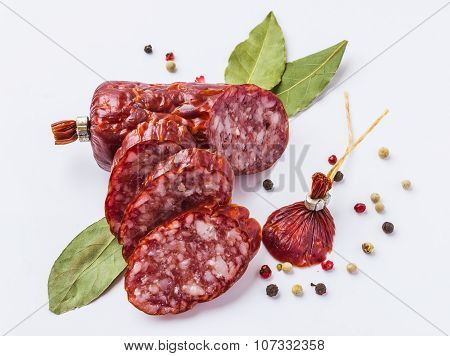 Sliced sausage With Spices